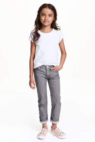 Stretch trousers - Dark grey - Kids | H&M CN 1
