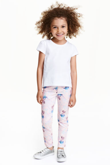 Printed treggings - Light pink/Frozen - Kids | H&M CN 1