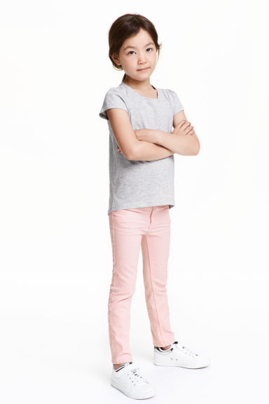 Stretch trousers - Light pink - Kids | H&M CN 1