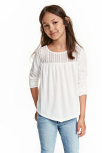 Top with lace - Natural white - Kids | H&M CN 1