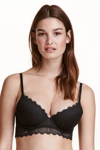 Bralette in pizzo - Nero - DONNA | H&M IT