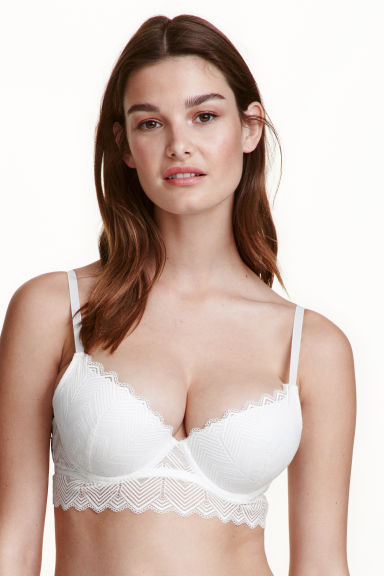 Lace bralette - White - Ladies | H&M CN 1