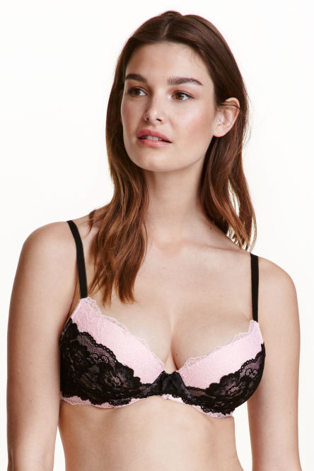 Reggiseno push-up in pizzo