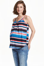 MAMA V-neck strappy top - Blue/Striped - Ladies | H&M CN 1
