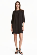 Chiffon dress - Black - Ladies | H&M CN 1