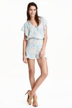 Playsuit - Light blue/Floral - Ladies | H&M CN 1