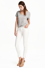 Stretch trousers - White - Ladies | H&M CN 1