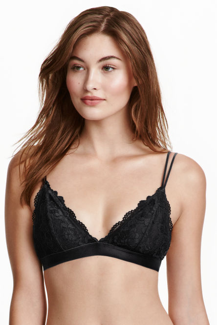 Soft lace bra