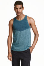 Seamless sports top - Petrol marl - Men | H&M CN 1