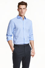 Cotton shirt Slim fit - Light blue - Men | H&M CN 1