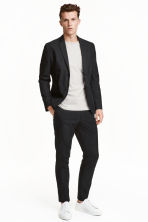 Suit trousers in cotton poplin - Black - Men | H&M CN 1