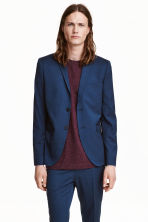 Jacket Skinny fit - Navy blue - Men | H&M CN 1