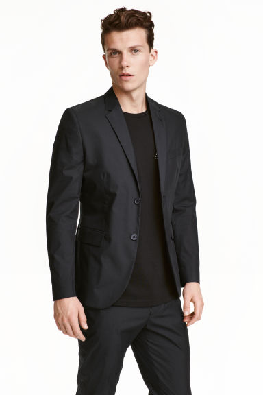 Jacket in cotton poplin - Black - Men | H&M CN 1