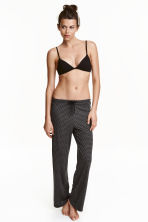 Viscose jersey pyjama bottoms - Black/Grey zigzag - Ladies | H&M CN 1