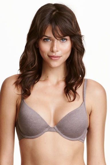 2-pack padded underwired bras - Pink/Mole - Ladies | H&M CN 1