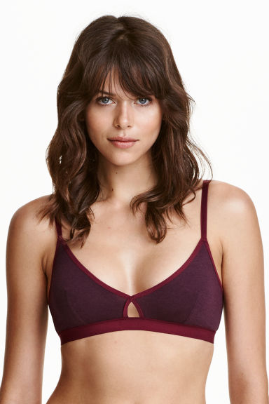 2-pack non-wired bras - Burgundy/Pink - Ladies | H&M CN 1