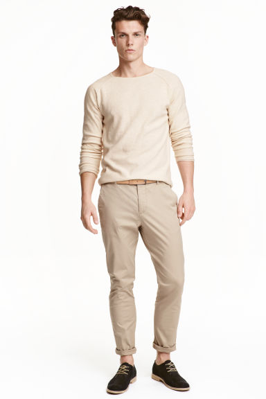 Chinos Slim fit - Beige - Men | H&M CN 1