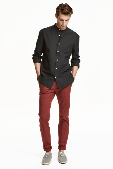Chinos Skinny fit - Rust red - Men | H&M CN