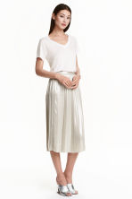 Pleated skirt - Silver - Ladies | H&M CN 1