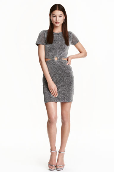 Glittery dress - Black/Silver - Ladies | H&M IE 1