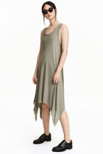 Asymmetric dress - Khaki green - Ladies | H&M CN 1