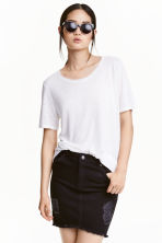 Denim skirt - Black - Ladies | H&M CN 1