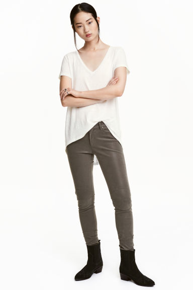 Stretch trousers - Dark grey - Ladies | H&M CN