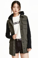 Hooded cargo jacket - Khaki green -  | H&M CN 1