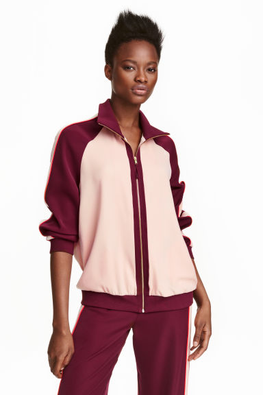 Giacca color-block - Bordeaux/cipria - DONNA | H&M IT 1