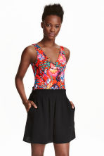 Patterned body - Red/Floral - Ladies | H&M CN 1