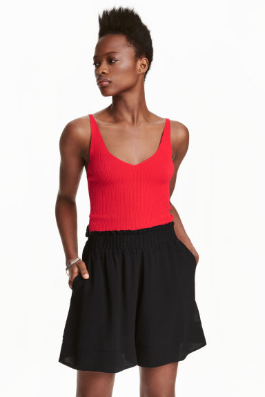 V-neck top - Red - Ladies | H&M CN 1