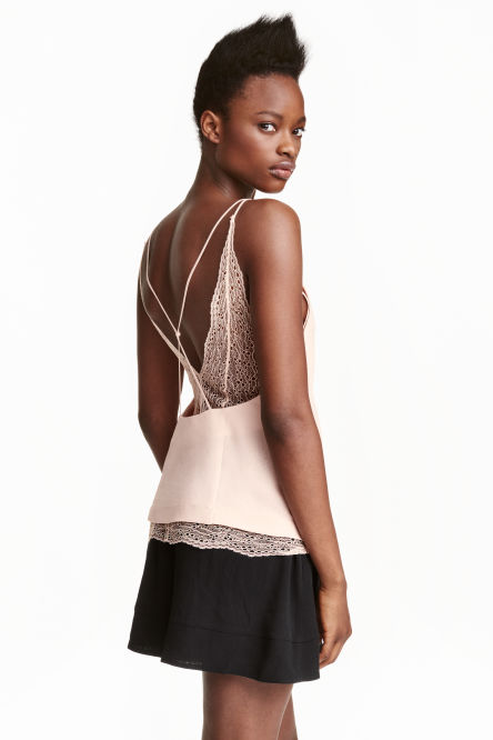 Double-layered lace top