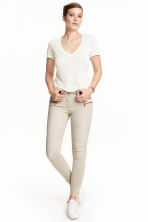 Skinny Low Biker Jeans - Light beige - Ladies | H&M CN 1