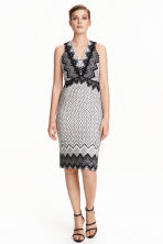 Patterned dress - White/Black - Ladies | H&M CN 1