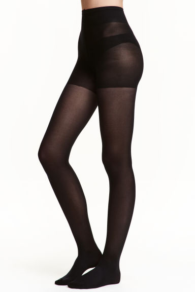 2-pack Control top tights - Black - Ladies | H&M 1
