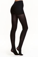 100 denier control-top tights - Black - Ladies | H&M 1
