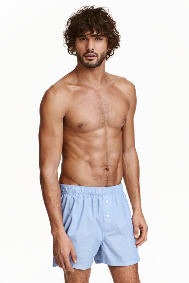 2-pack cotton boxer shorts - Dark blue/Light blue - Men | H&M CN 1