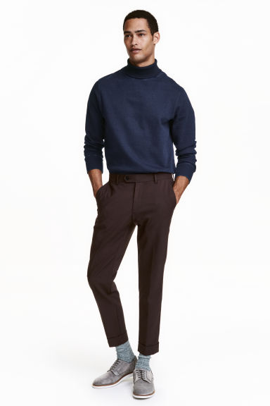 Pantaloni effetto neoprene - Marrone scuro - UOMO | H&M IT 1