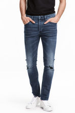 Skinny Low Trashed Jeans  - Dark denim blue - Men | H&M CN 1
