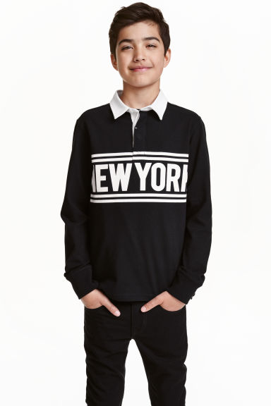 Rugby shirt - Black/New York - Kids | H&M CN 1