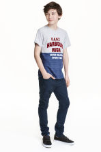 Twill trousers Slim fit - Dark blue -  | H&M CN 1