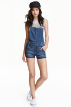 Denim dungaree shorts - Retro denim - Ladies | H&M CN 1