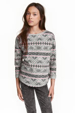 Sweatshirt with a motif - Grey/Patterned - Kids | H&M CN 1