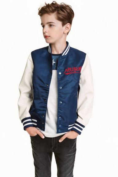 Baseball jacket - Dark Blue/New York - Kids | H&M GB