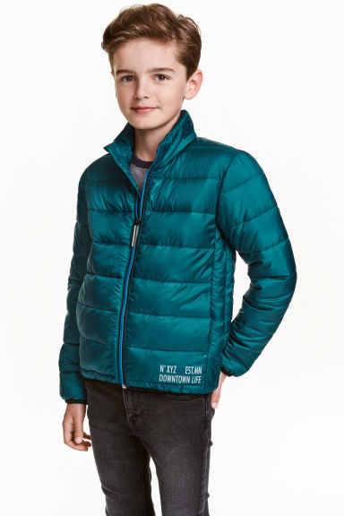Lightweight padded jacket - Petrol - Kids | H&M GB