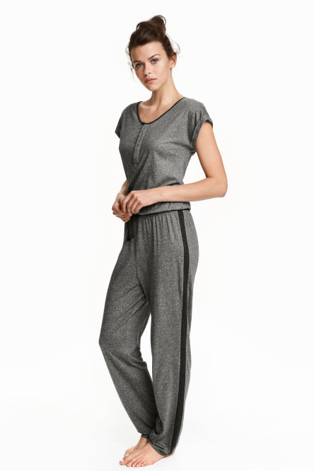 Jumpsuit with cap sleeves