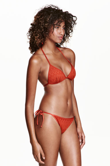 Bikini bottoms - Rust red - Ladies | H&M CN 1