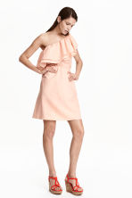 One-shoulder dress - Powder pink - Ladies | H&M CN 1