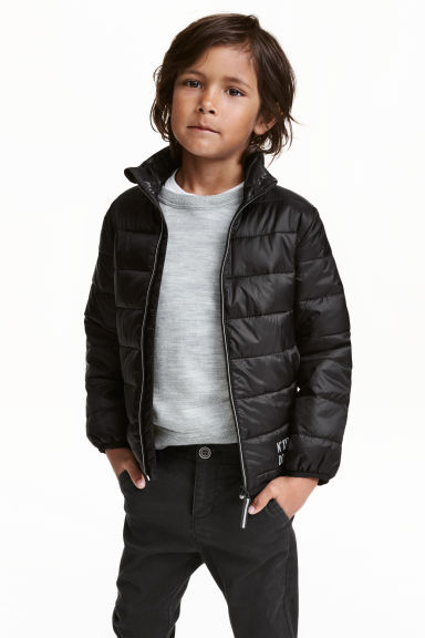 Lightweight padded jacket - Black - Kids | H&M CN 1