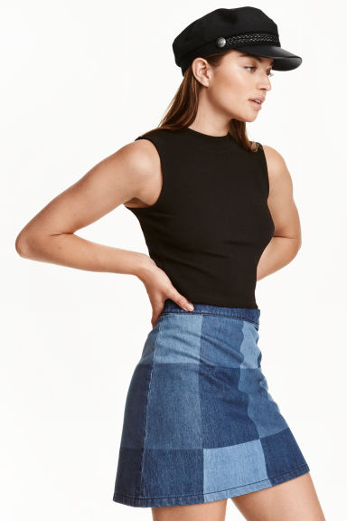 Jersey crop top - Black - Ladies | H&M CN 1